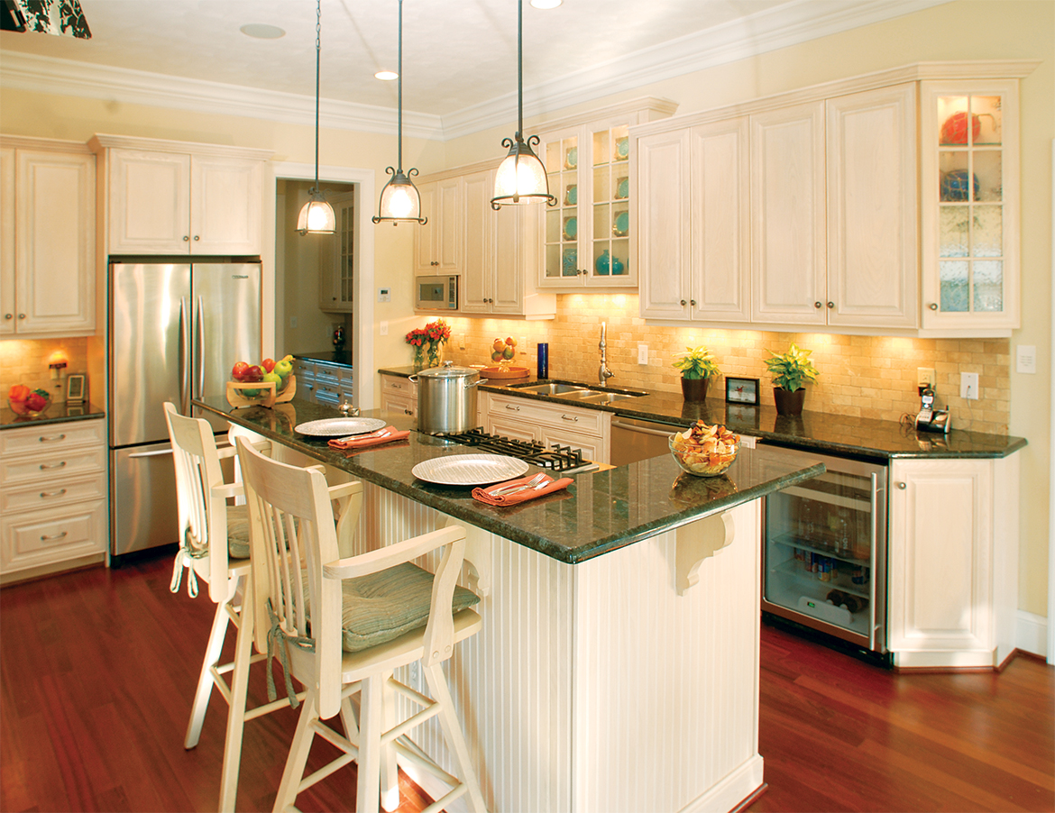 bay lake pines white cabinets beach