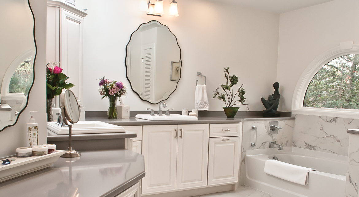 Bathroom White Cabinets Virginia Beach