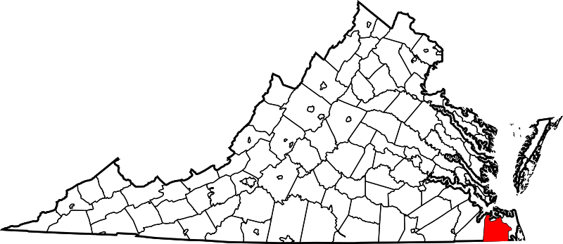 chesapeake Virginia Map