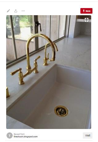 Two Tone Metallic Trim Sink Design